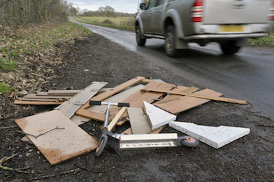 spy cameras capture fly tipping