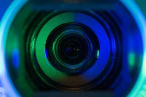 Camcorder optics closeup